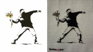 Banksy – Flower thrower