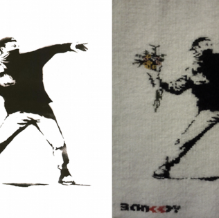 Banksy – Flower thrower